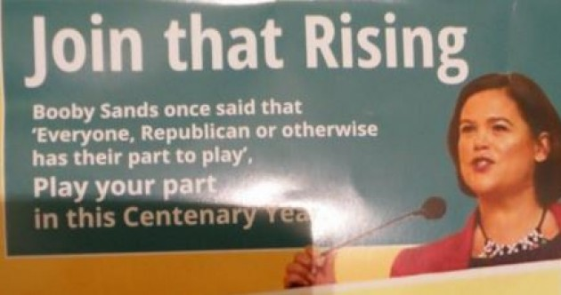 This Mary Lou leaflet contains a very unfortunate typo about Bobby Sands