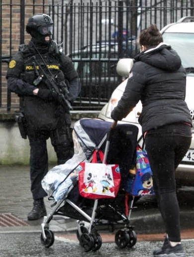 In photos: Armed gardaí patrolling the streets of Dublin