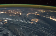 Watch: Violent storms, bright lights and dark seas - The view from 250 miles high