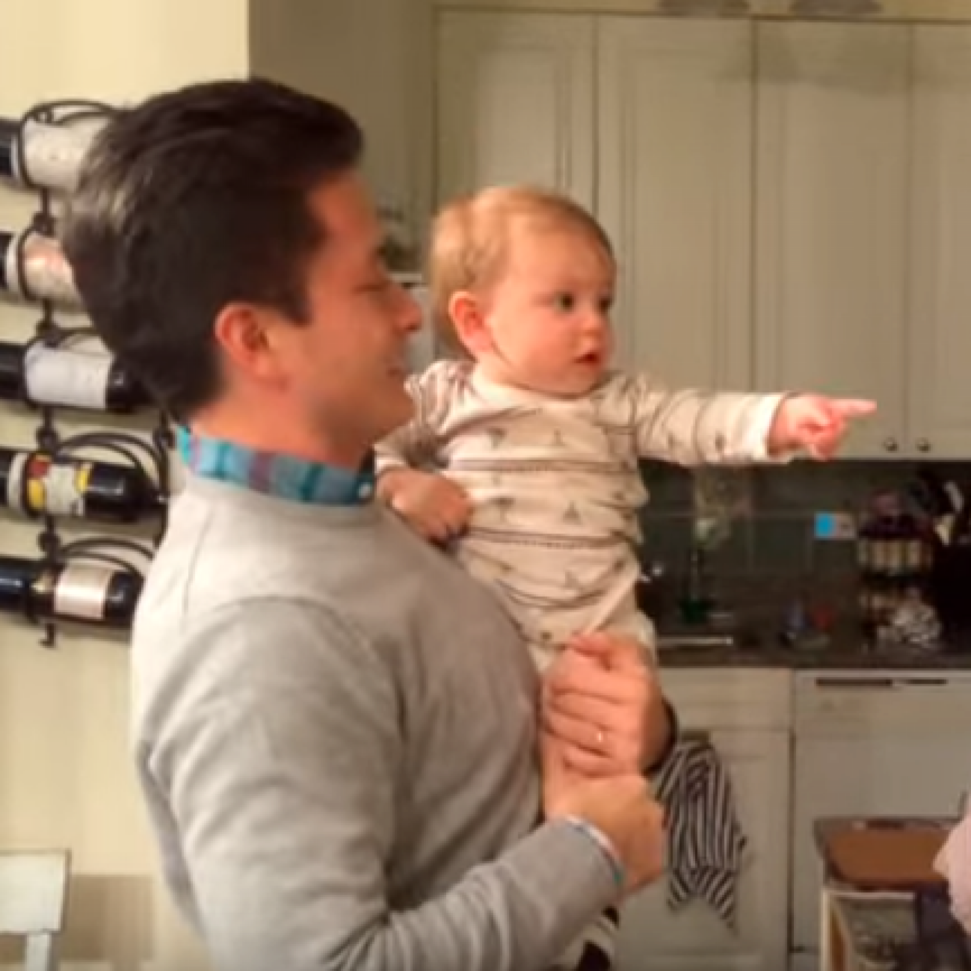 This baby got super confused when he was babysat by his dad's twin