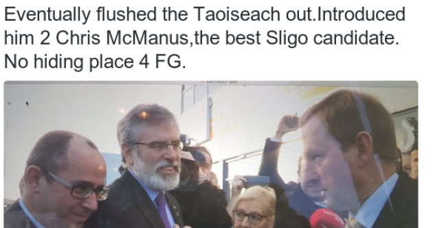 'Come over here': Gerry and Enda shook hands in Sligo this morning