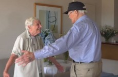 American soldier reunites with girlfriend - 71 years after they last saw each other