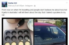 It's so hot in Australia that this woman was able to bake cupcakes IN HER CAR