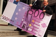 You better spend your €500 notes quickly, the big purple one could soon be scrapped