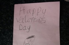 This Irish kid made a hilariously inappropriate Valentine's card for his Dad