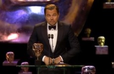 Leo DiCaprio thanked 'British actor Daniel Day-Lewis' in his BAFTAs speech