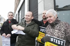 Paul Murphy ripped up his latest Irish Water bill outside its HQ today