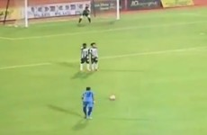 Even Roberto Carlos might be envious of this incredible free-kick