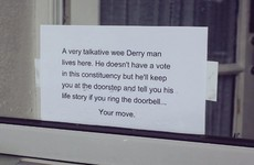 This Donegal woman has a unique way of keeping politicians from her door