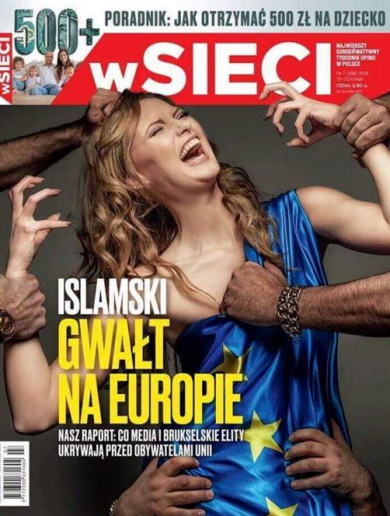 "Outrage over Polish magazine cover depicting the ""Islamic Rape of Europe"""