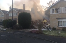 Massive explosion completely destroys house