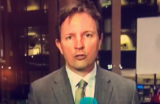 Everybody noticed this RTÉ reporter getting tongue-tied on the news last night