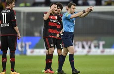 Bedlam in Bundesliga - referee storms off when Leverkusen boss refuses to go to stands