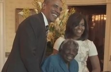 Take a break and watch this 106-year-old dance with the Obamas