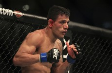 Dos Anjos ruled out of next week's lightweight title fight against Conor McGregor