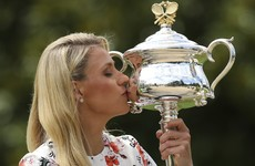 Angelique Kerber's Australian Open trophy has finally shown up… in the post