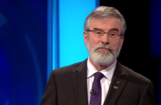 The creak during the Leaders' Debate was Gerry's sore back