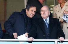 You can't make it up! Fifa reduces Blatter and Platini bans because of their 'services to football'