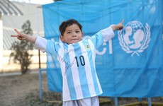 The little kid with the plastic Messi jersey has finally gotten the real thing