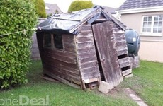 An absolute chancer in Kerry is selling this shed on DoneDeal for €150