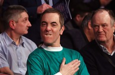 Actor James Nesbitt clearly had a big night showing his support for Frampton and Northern Ireland football