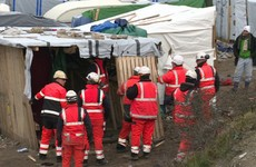 Water cannon used as Jungle camp gets bulldozed