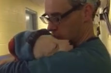 This video of a vet comforting a scared puppy after surgery is going super viral