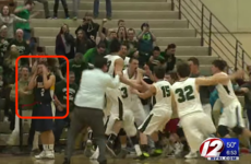 A basketball team celebrated their 'win' with 1 second on the clock… guess what happened next