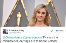 Americans thought Saoirse Ronan's earrings referenced the North/South divide in Ireland