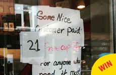This coffee-based act of kindness by a sound Dubliner is just lovely