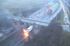 Truck goes on fire near Dublin Port Tunnel