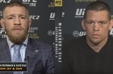 McGregor and Diaz had a fascinating live TV discussion about gazelles after last night's bust-up