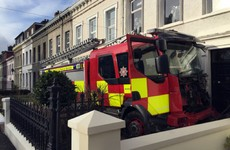Two men arrested after crashing stolen fire engine