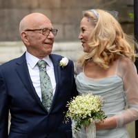 Going to the chapel: Stars come out for the glitzy Murdoch-Hall wedding
