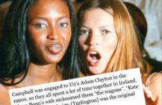 This Naomi Campbell anecdote in the Sunday Times is especially funny to Irish people