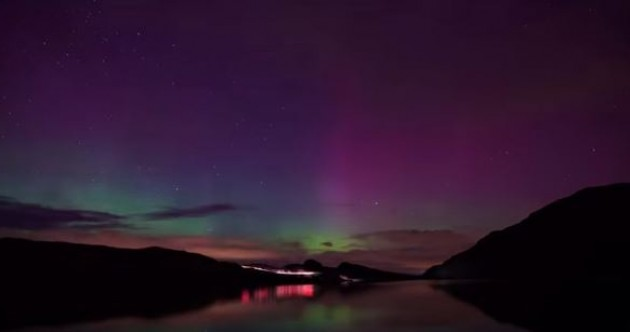 WATCH: The Northern Lights paid a spectacular visit to Ireland last night