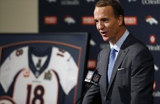 'God bless football': Peyton Manning gave a tearful farewell speech after 18 years
