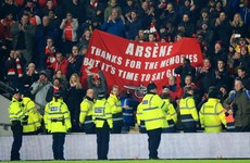 'It's time to say goodbye' - Arsenal fans unfurl banner pleading with Wenger to quit