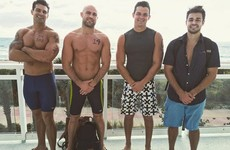 Cathal Pendred is having a great aul time on the Baywatch set… it's the Dredge