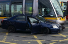 No injuries after car collides with Luas