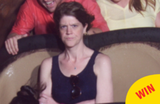 The internet can't get enough of this woman's sourpuss rollercoaster photo