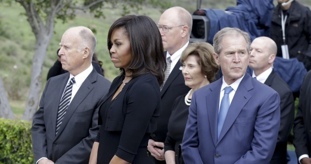 Photos: Well known politicians and stars among mourners at Nancy Reagan's funeral