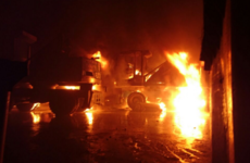 Dublin Fire Brigade dealt with this multi-vehicle fire last night