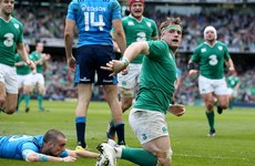 Jamie Heaslip scored a contender for try of the championship today
