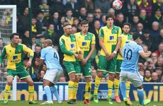 Man City's Premier League title hopes take a hit as Norwich claim a point