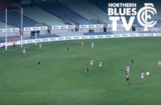 Louth's Ciaran Byrne hits a stunning goal in a pre-season Aussie Rules game in Melbourne