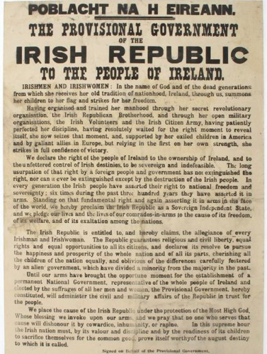 Copy of Irish Proclamation sells for €185,000