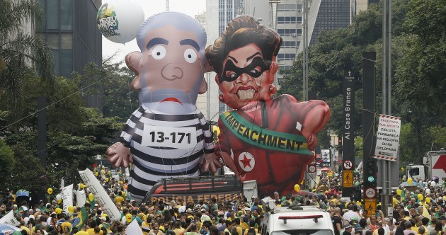 Pictures: An incredible THREE MILLION people have joined an anti-government protest in Brazil
