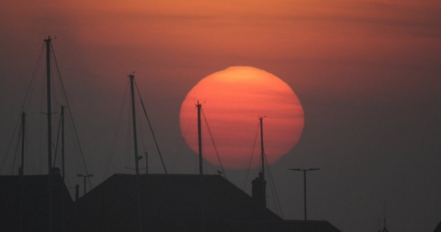 The sunrise this morning was pretty special – and the high pressure's here for the week