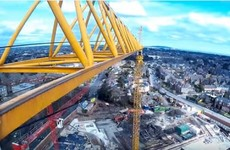 This is what Dublin looks like from high up on a spinning crane